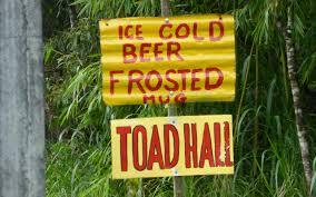 Toad Hall Signage