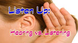 hearing v listening