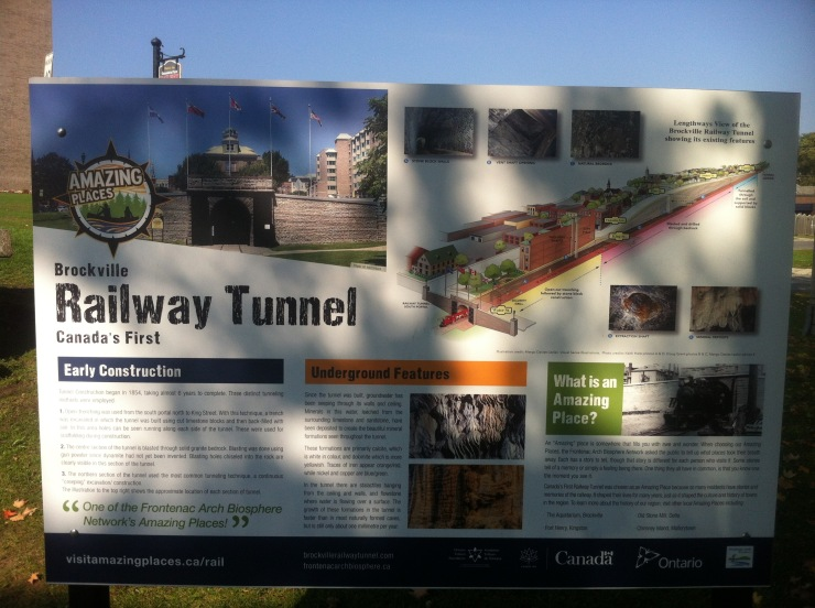 Brockville Tunnel Information board